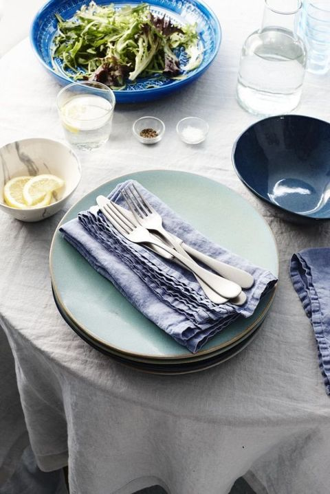 Duck egg blue dinner plates