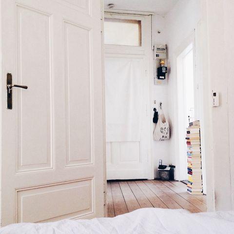 Home interior in white