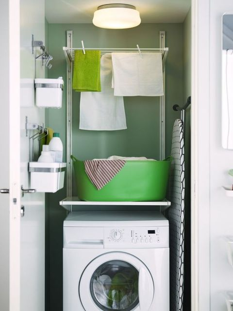 Laundry shelf and drying rack from Ikea