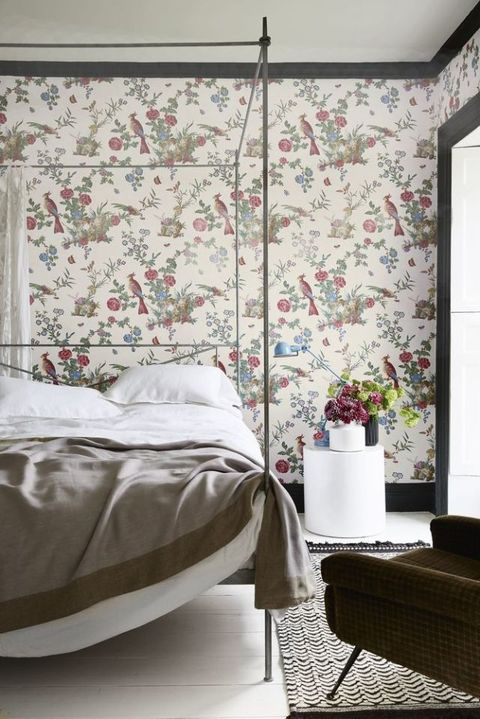 Little Greene wallpaper, Reinvented classic bedroom scheme