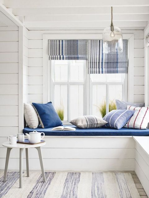 Blinds made up in Anglesey Stripe, John Lewis