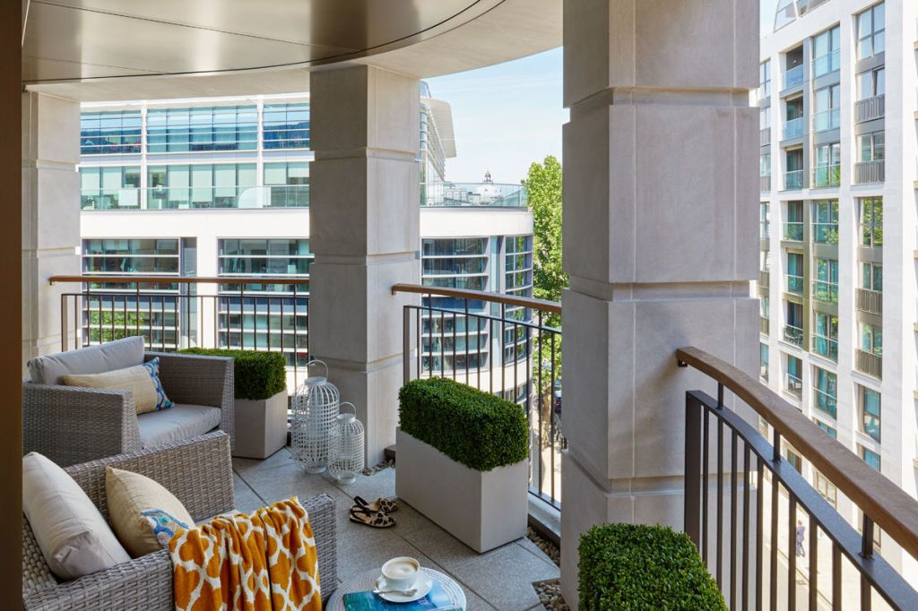 Small Terrace Designed By Interior Design And Architecture Company Company,  Honky