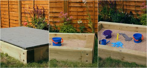 Wickes how to build your own sandpit in a garden