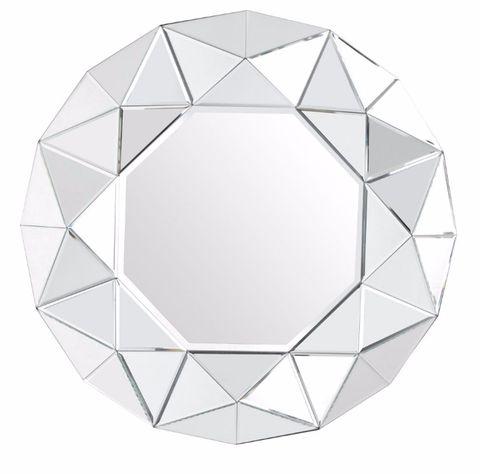 a2d72b1564e2 Silver Coloured Zaragoza Wall Mirror by Kaleidoscope: modern and  contemporary Wall Mirror has a glass