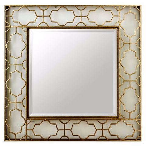 1a140009b587 Openwork Square Mirror by Kaleidoscope  Square shape mirror comes in a  delicate metal work design
