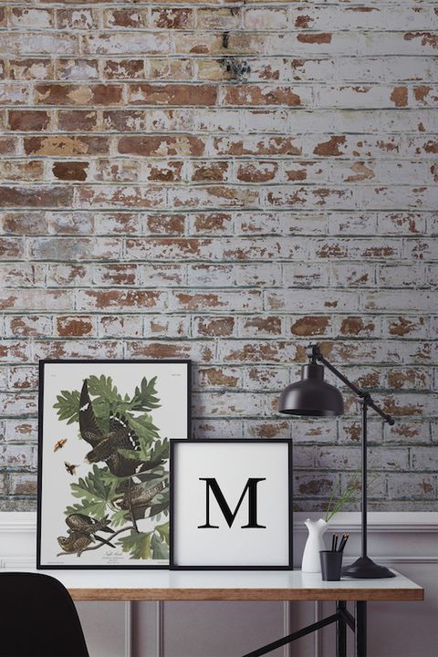 Hallway brick-effect wallpaper by Murals Wallpaper
