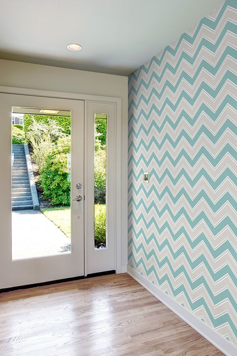 Coloroll Chevron Teal Inspired Wallpaper