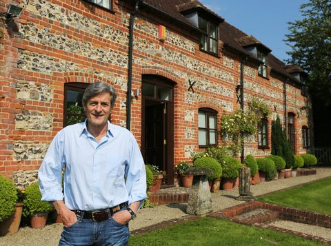 Celebrity Home Secrets: Nigel havers outside his countryside home in Wiltshire