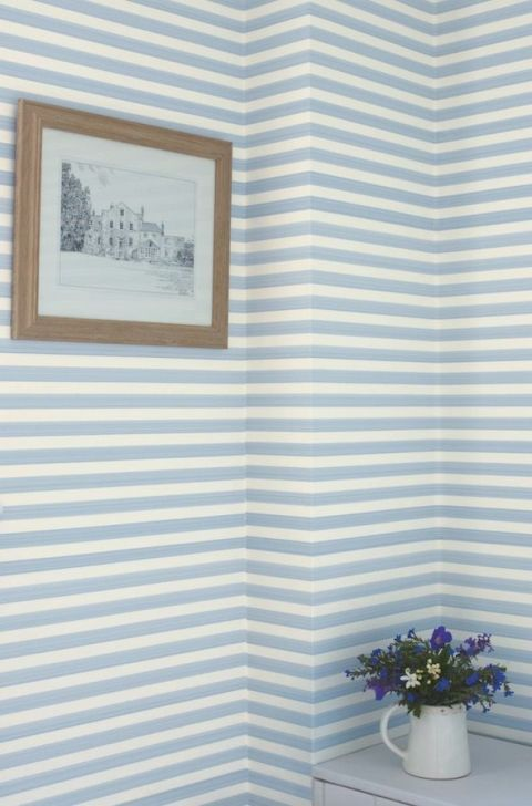 Closet stripe wallpaper, Farrow & Ball