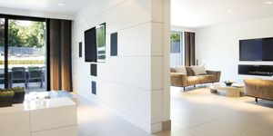 Divider wall of modern home