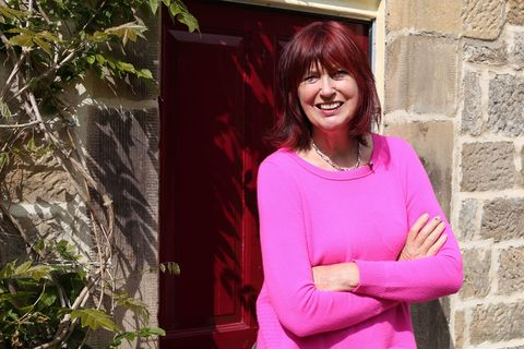 Janet Street-Porter outside her current home in Yorkshire