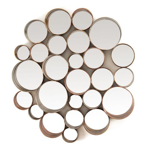Retro multi-circle wall mirror