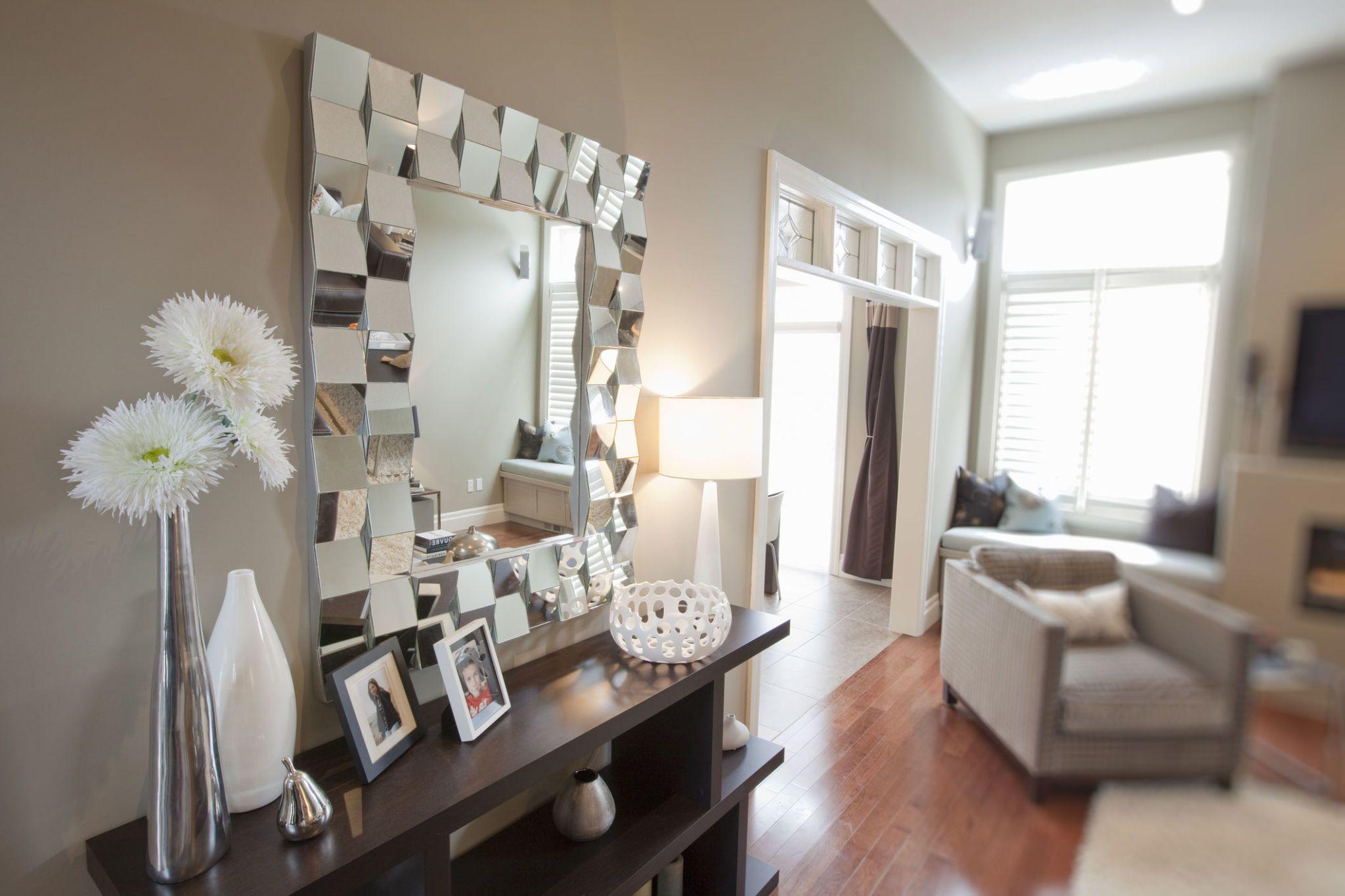 10 fabulous statement wall mirrors rh housebeautiful com rectangular wall mirror for living room modern wall mirror for living room