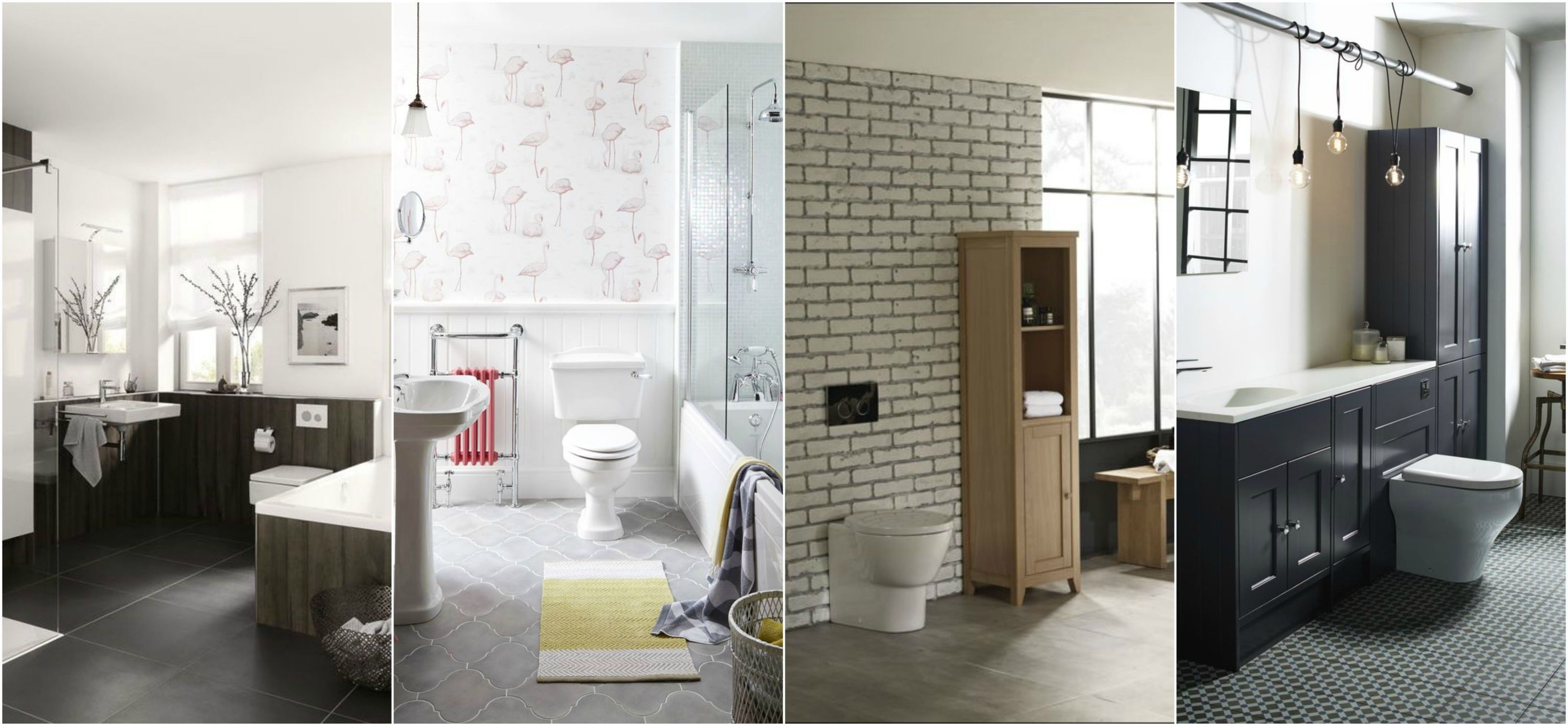 Dream Bathrooms Collage