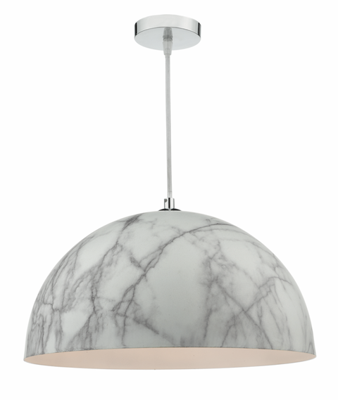 MAGNUS - larger sized pendant with a natural marble finish for a cool clean look.