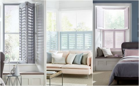 House Beautiful collection at Hillarys - Atmosphere shutters range