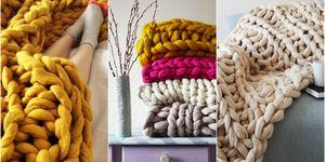 Lauren Aston super soft chunky knit blanket made from merino wool