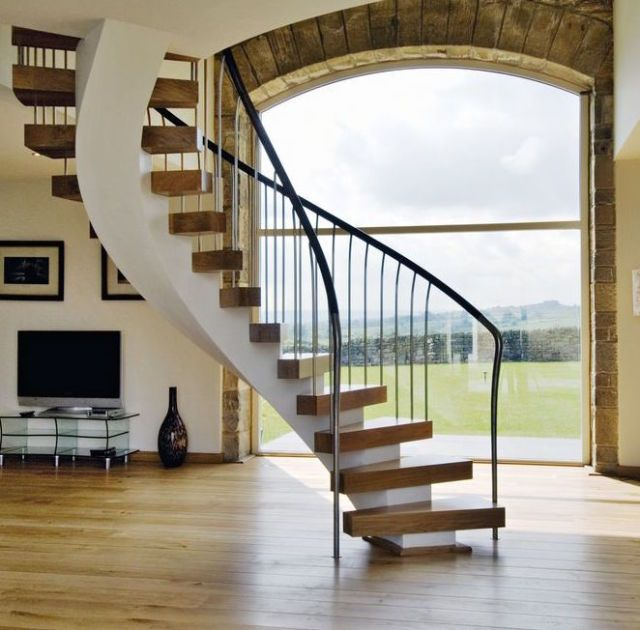 Bisca Hyatt Staircase With Curving Frame