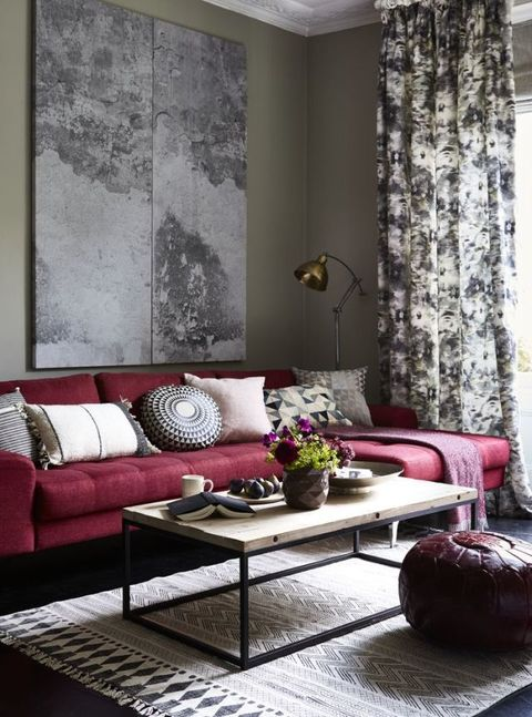 Winter berries style inspiration: Bring together a glorious medley of raspberry, mulberry and blackcurrant shades for a chic and cosy scheme