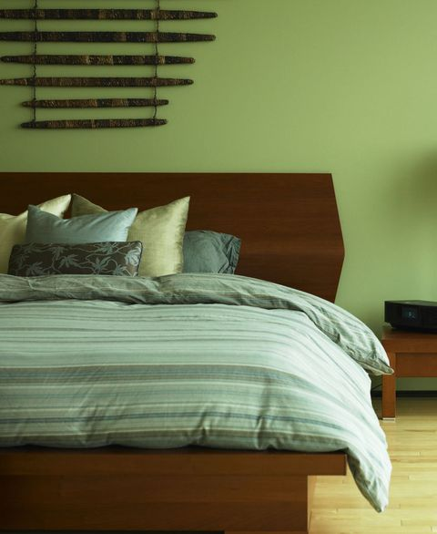 Green bedroom scheme