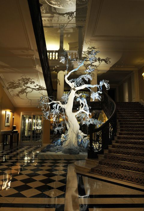 Claridge's hotel Christmas tree designs over the years