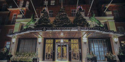 Claridge's hotel Christmas tree designs over the years