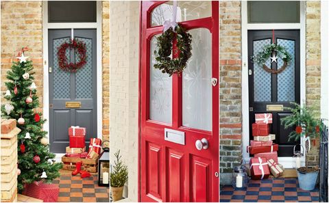 christmas front door decoration ideas - Christmas Front Door Decor