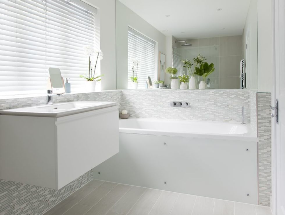 Bathroom Makeover With Textured Tiles