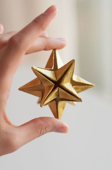 Origami paper star for Christmas