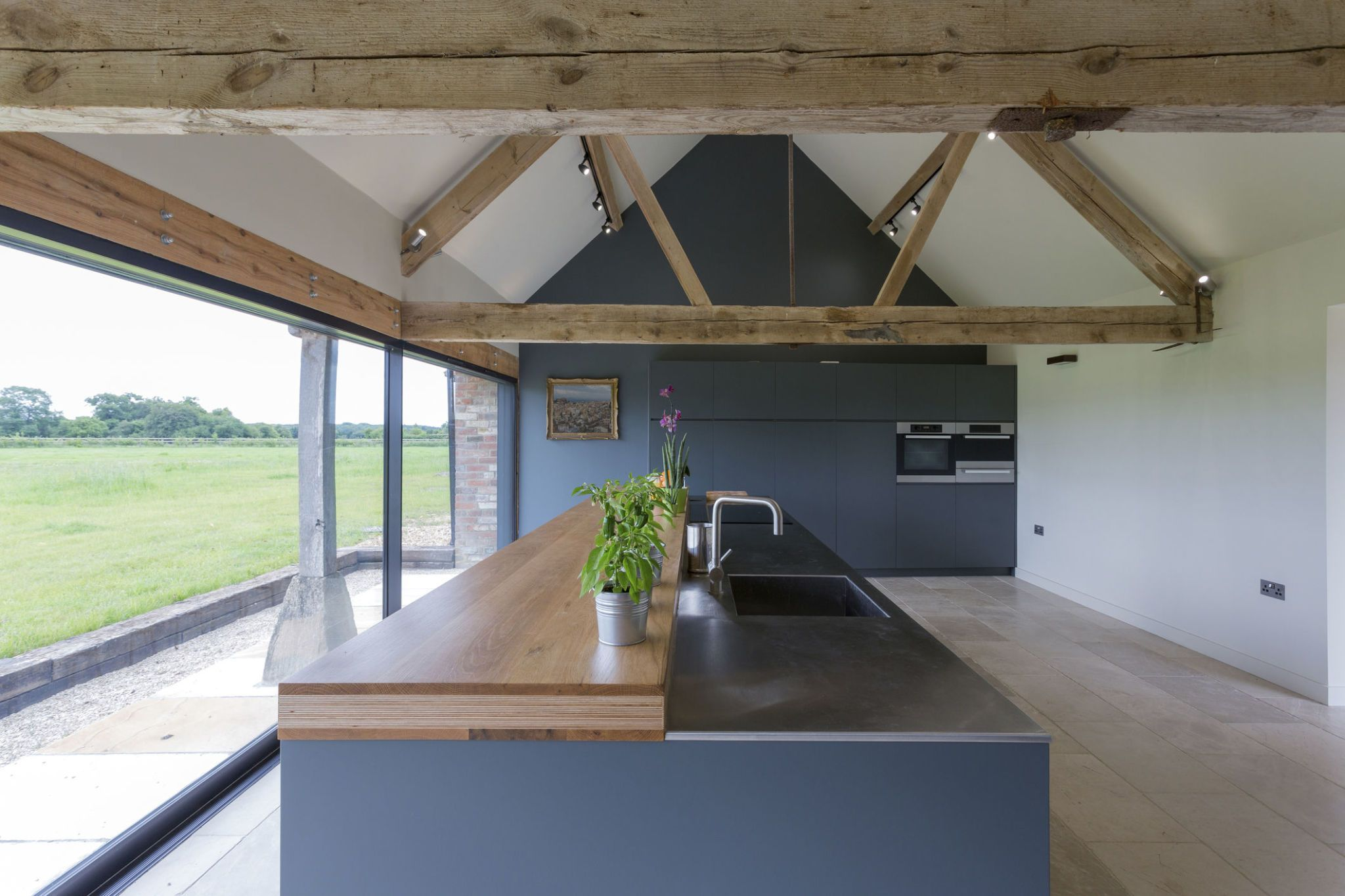 Modern Kitchen Of Converted Barn Home