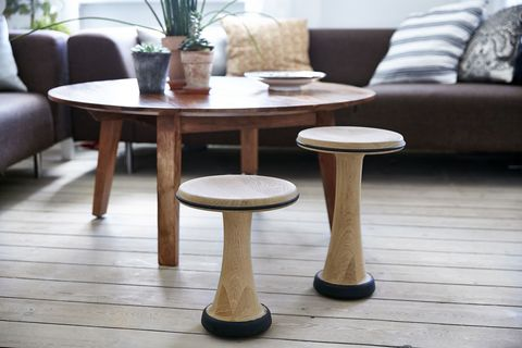 OneLeg Wood Posture Stool