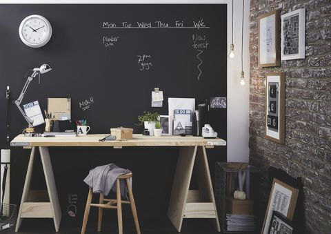 Chalkboard in home, B&Q, www.diy.com