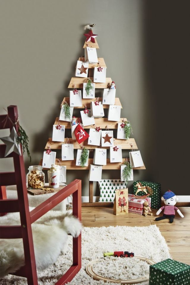 christmas countdown how to make a wooden advent calendar. Black Bedroom Furniture Sets. Home Design Ideas