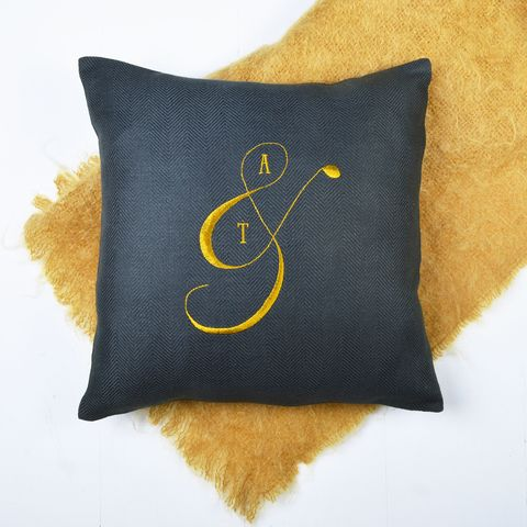 Handmade His And Hers Personalised Cushion, MiaFleur