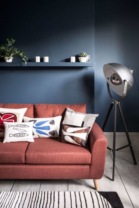 Marks and Spencer Needham sofa, and floor lamp