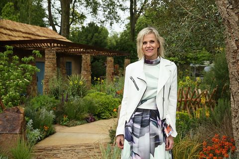 Linda Barker visits the Sentebale 'Hope In Vunerability' Garden during the annual Chelsea Flower show at Royal Hospital Chelsea on May 18, 2015 in London, England.