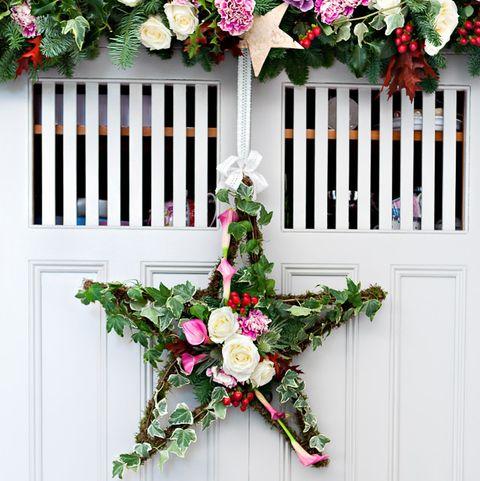 Vintage Christmas tree wreath