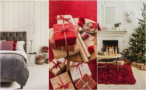 House Beautiful collection at Carpetright - festive flooring, carpets and rugs, for Christmas. Styling by Kiera Buckley-Jones.