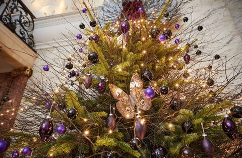 The London EDITION hotel unveils folkloric designed Christmas tree created by set designer and art director Simon Costin
