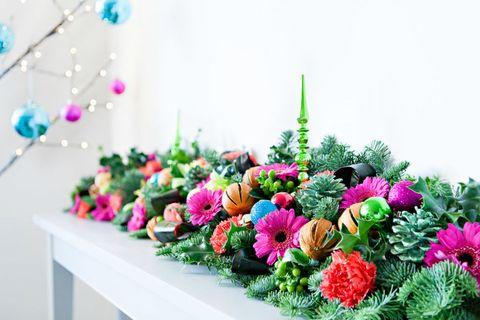 Vibrant Christmas garland