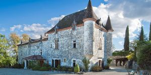 French chateau in Lot et Garonne, France