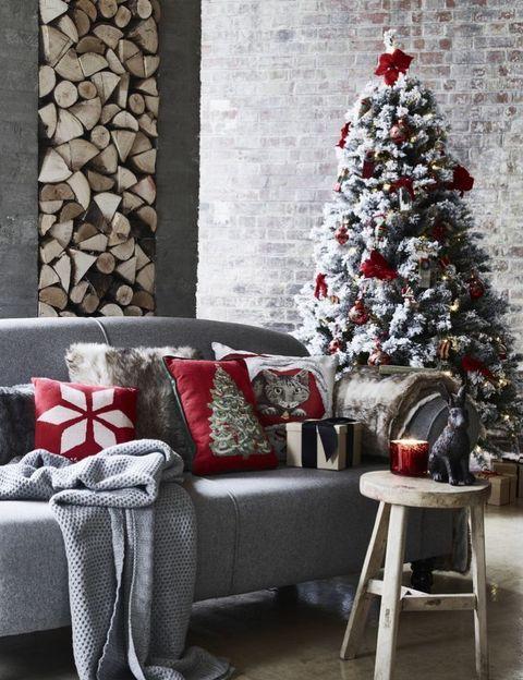 George Home - Christmas Luxe - elegant Merry Christmas living room -  festive makeover