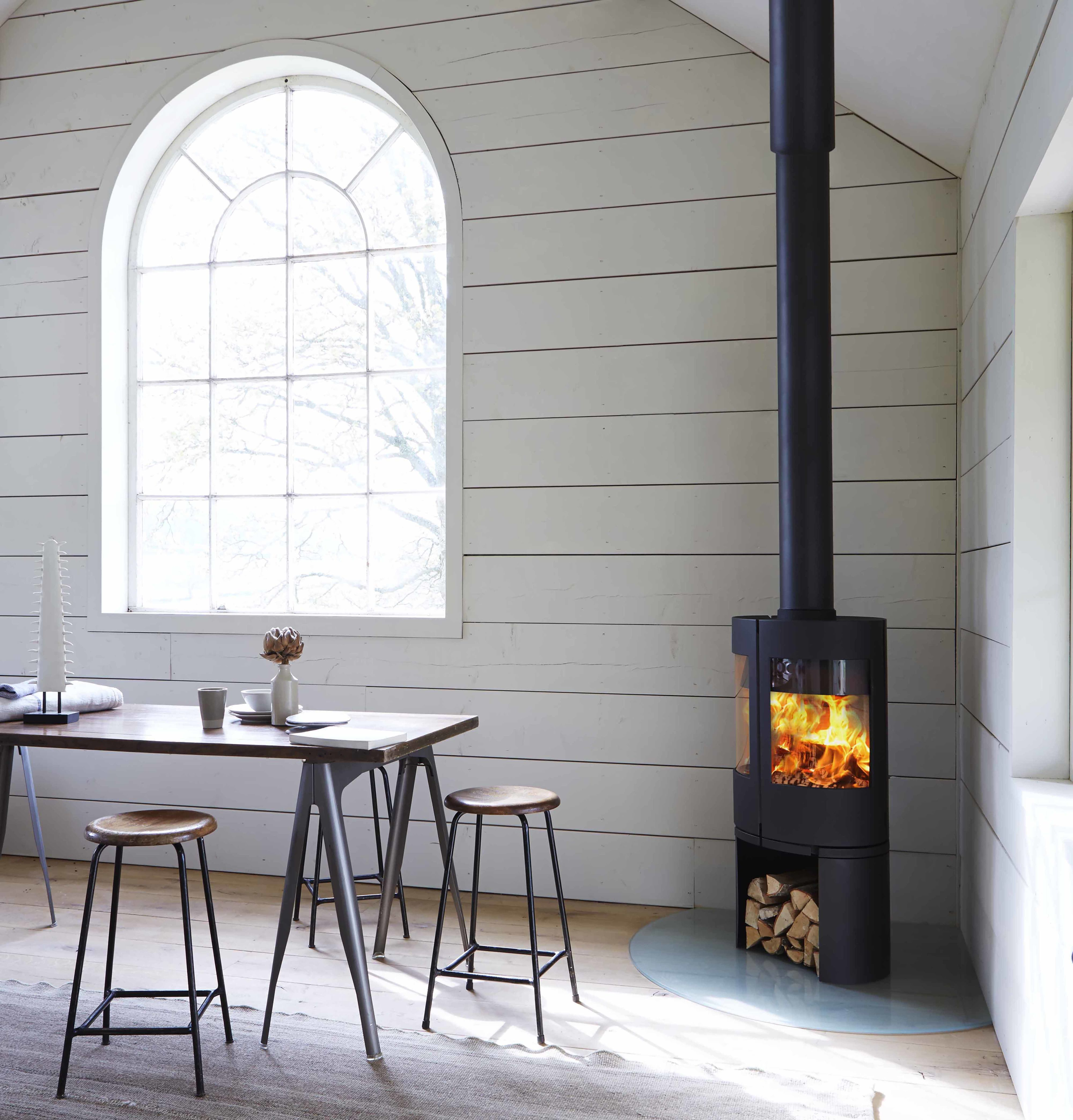 Black wood-burning stove Morso & Open Fires Stoves and Fire Logs: Everything You Need To Know ...