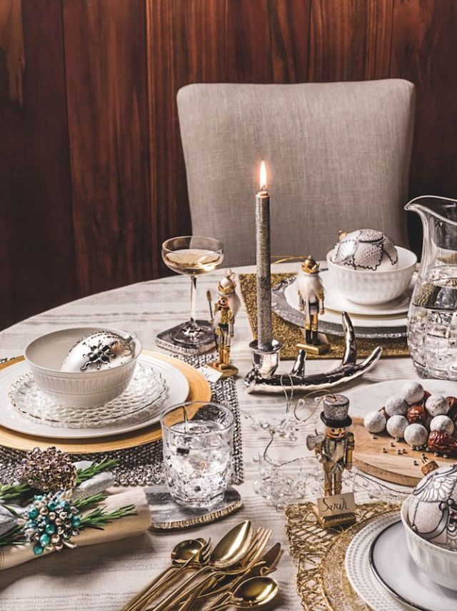 Homesense Christmas table setting & 11 styling secrets to decorating the perfect Christmas table