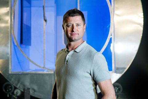 George Clarke's Amazing Spaces on Channel 4. George and William Hardie unveil their futuristic rotating home