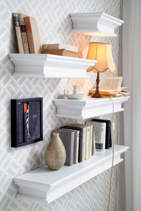 Living room storage solutions: media units, wall-mounted shelves ...