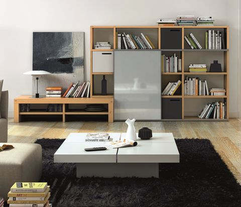 Living room storage solutions: media units, wall-mounted ...