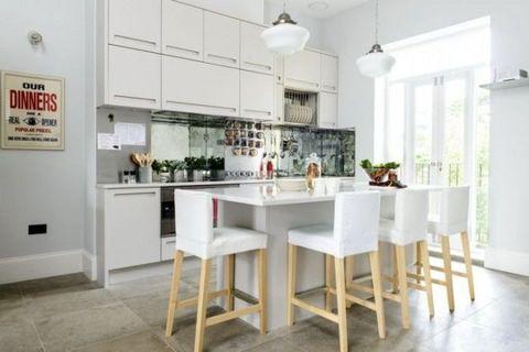 Floor, Interior design, Room, Flooring, Table, Furniture, Ceiling, Light fixture, Countertop, Interior design,