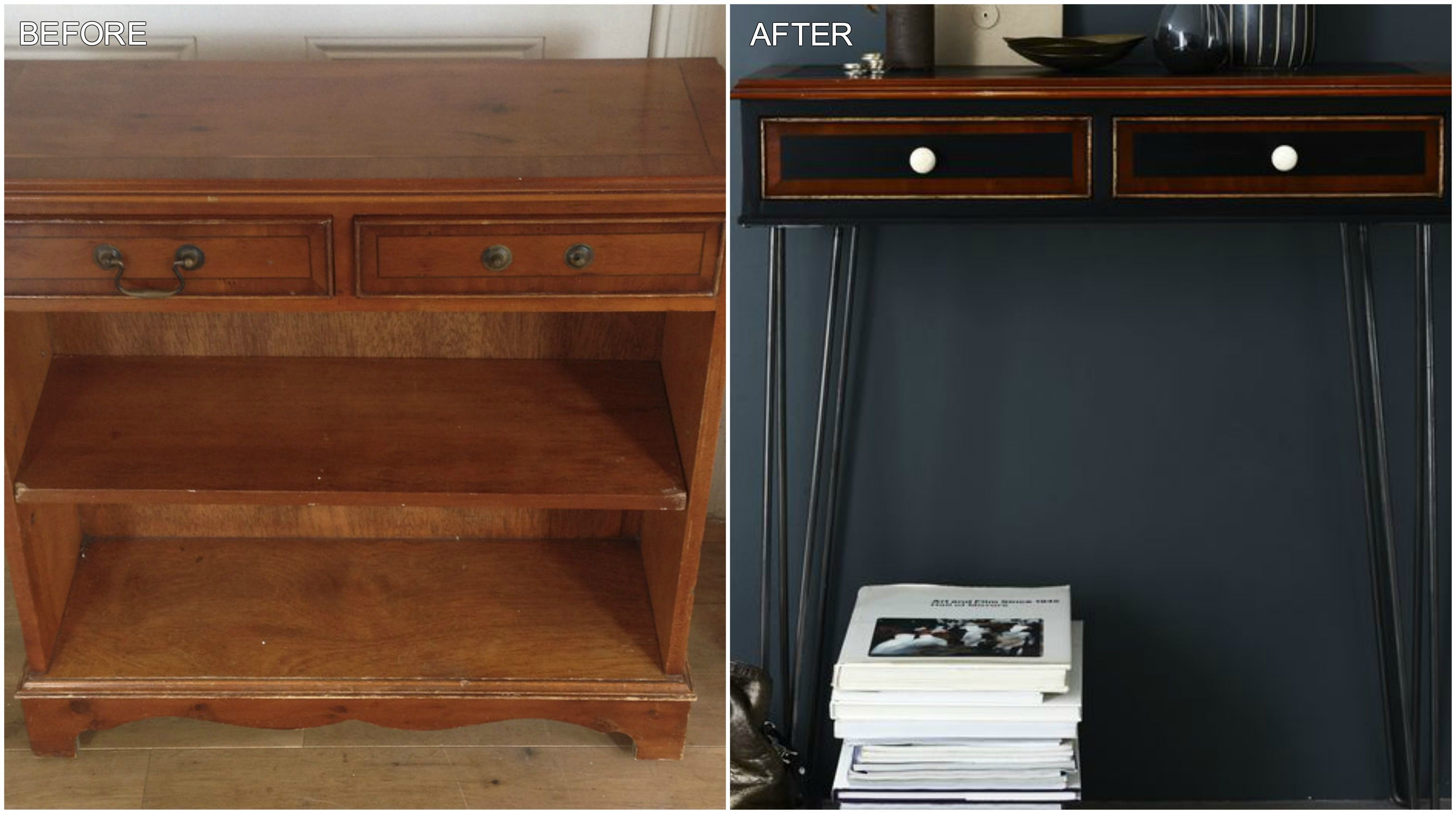 Bookcase And Console Table   Upcycling Project