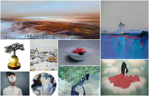 Affordable Art Fair Battersea collage